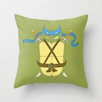 leonardo Throw Pillows featuring Leonardo by Laz Llanes