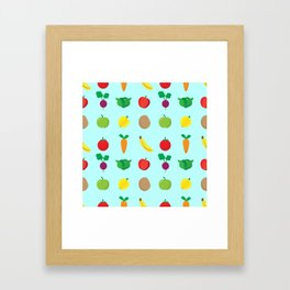 A Cute Concoction of Fruit and Vegetables. Vegan Heaven! Framed Art Print