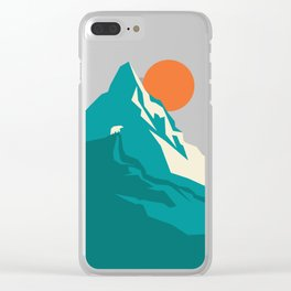 As the sun rises over the peak Clear iPhone Case