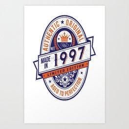 Made-In-1997-Birthday-T-Shirt-20th-Birthday-Gift-Idea Art Print