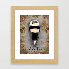 Black Tea Girl Framed Art Print