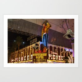 Vegas Vic at The Pioneer Club Hotel downtown Las Vegas Art Print