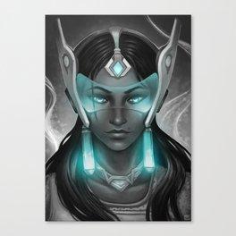 Symmetra Blue Canvas Print