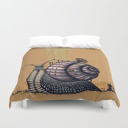 Snail level 2 Duvet Cover
