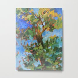 Tall Oak Metal Print