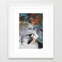 falcon Framed Art Prints featuring Falcon by John Turck