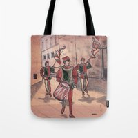 drum Tote Bags featuring Drum by Sarah Larguier