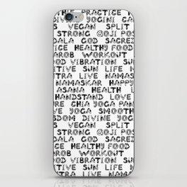 yoga text iPhone Skin
