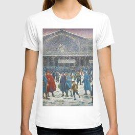 La Gare de l'Est sous la neige, 1917 Maximilian Luce T-shirt
