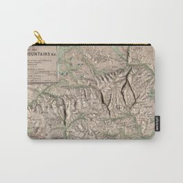 Vintage White Mountains Physical Map (1872) Carry-All Pouch