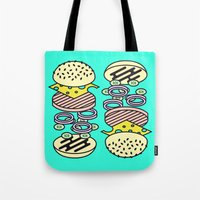 burger Tote Bags featuring Burger by Jan Luzar