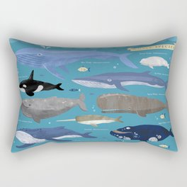 Whale Species Rectangular Pillow
