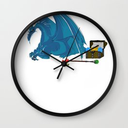 Role Playing Game rpg gamer Fantasy Dragons Shirts Wall Clock