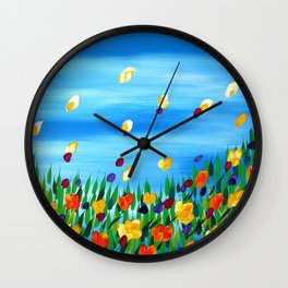 Field of Happines Wall Clock