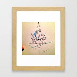 The Frost Empire Bird Framed Art Print