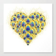Peacock Heart Canvas Print