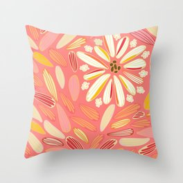 petaled dandelion pink perfection Throw Pillow