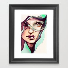 Digital watercolor Framed Art Print