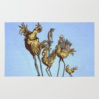 dali Area & Throw Rugs featuring Dali Chocobos by Boots