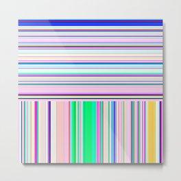 Re-Created Lines & Stripes 5 by Robert S. Lee Metal Print