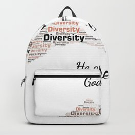 Diversity Theme Show Love for Humanity by Saletta Home Decor Backpack