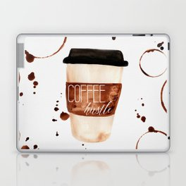 Coffee and Hustle on the Go Laptop & iPad Skin