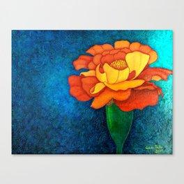 Golden petals Canvas Print