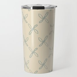 Abstract Astral Pattern in Yellow & Green Travel Mug
