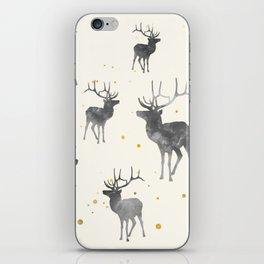 GOLD & ASH DEER PATTERN iPhone Skin