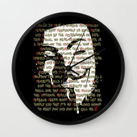 vendetta Wall Clocks featuring Vendetta 1.0 by Sberla