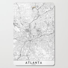 Atlanta White Map Cutting Board