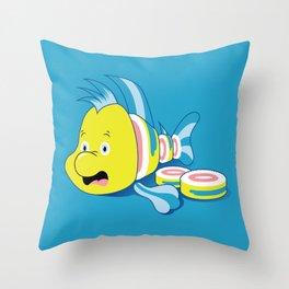 Flounder Sushi Throw Pillow