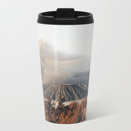 Volcano landscape Metal Travel Mug