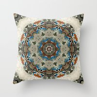 grace Throw Pillows featuring Grace by Mr. Pattern Man