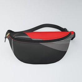 Bold Red Black Abstract Pattern Fanny Pack