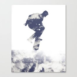 Simon- Kickflip in the Clouds Canvas Print
