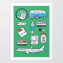 LOST // Tattoo Flash Poster // Oceanic 815  Art Print