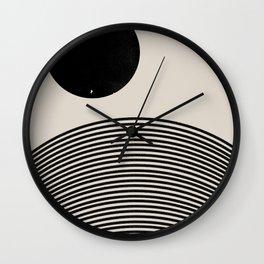 Woodblock Art, Mid Century illustration Wall Clock