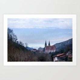 Basilica of Covadonga in the mountains, Spain Art Print