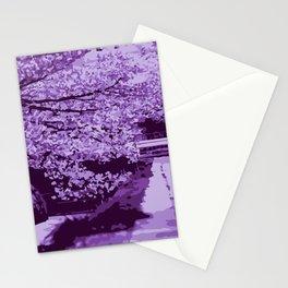 Sakura Monocrome Purple Variation Stationery Cards