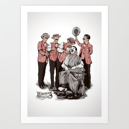 Barbershop Quartet Surgeons Art Print
