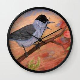 Blackcap in spring Wall Clock