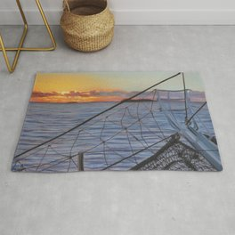 To Swim with Dolphins Rug