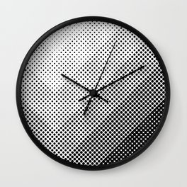 Concentric Squares with dots... a lot of dots. Black Dots, everywhere. It seems a light source. Wall Clock