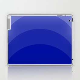 Four Shades of Blue Curved Laptop & iPad Skin