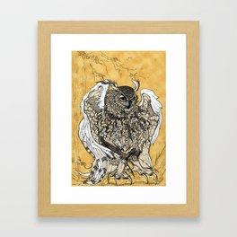 African Eagle Owl by MaxillaMellifer, aka Rosemary Knowles Framed Art Print