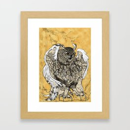 African Eagle Owl by MaxillaMellifer, aka Rosemary Knowles Framed Art Print