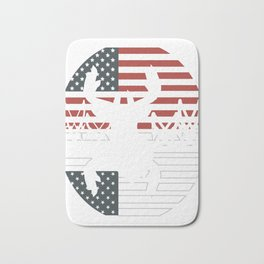 "Unique Shooting Tee For Hunters Saying ""American Flag"" T-shirt Design Hunting Rifle America Bath Mat"
