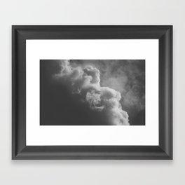 Moody Clouds Framed Art Print