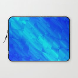 Glowing metallic blue fragments of yellow crystals on irregularly shaped triangles. Laptop Sleeve